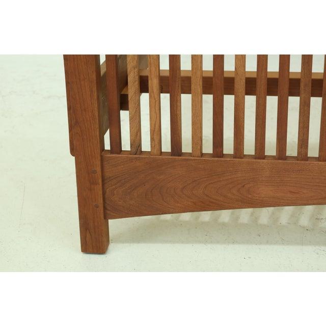 1990s Stickley King Size Mission Cherry Spindle Bed For Sale - Image 5 of 13