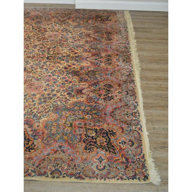 Karastan 10'x16' Kirman Vintage Large Room Size Carpet Rug #759 For Sale - Image 4 of 13