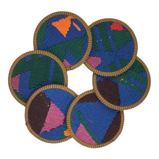 Kilim Coasters Set of 6 | Manti For Sale