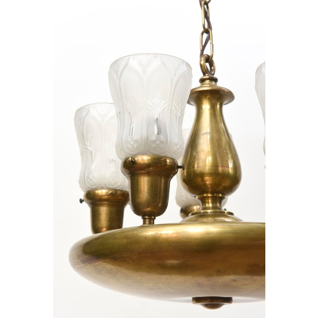 Five Light Early Electric Disk Fixture - Image 4 of 5