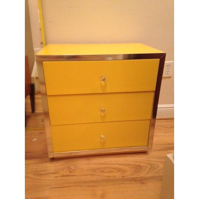 Mid-Century Modern Yellow Nightstands - A Pair - Image 5 of 6