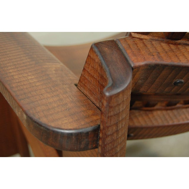 Pair of Solid Walnut Lounge Chairs For Sale - Image 8 of 10