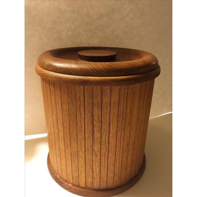 Mid-Centry Teak Panel Ice Bucket - Image 2 of 9