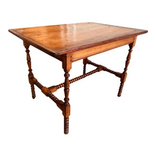Country Spool-Turned Tavern Table For Sale