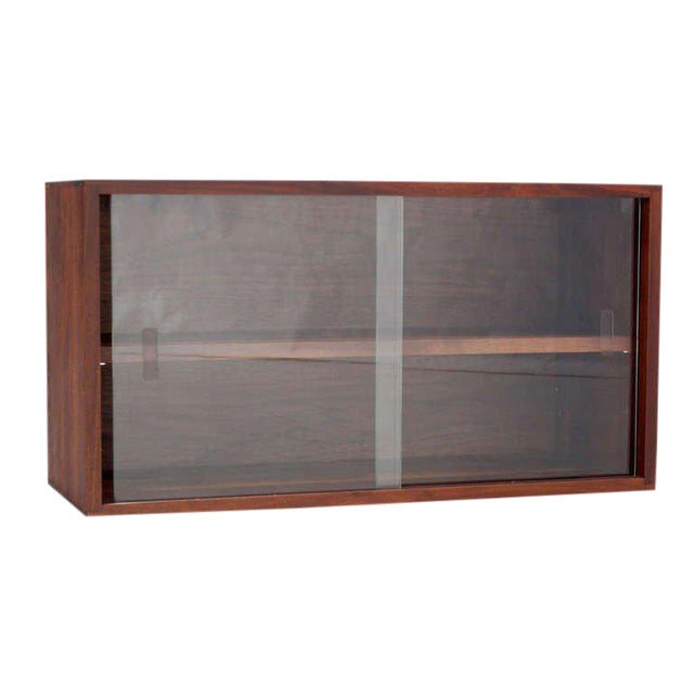 Mid-Century Modern Solid Walnut Hanging Shelf or Bookcase For Sale