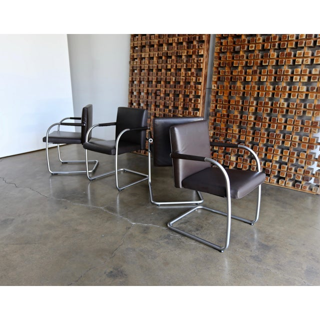 Leather Armchairs by Antonio Citterio & Glen Oliver Low for Vitra - Set of 4 For Sale In Los Angeles - Image 6 of 10