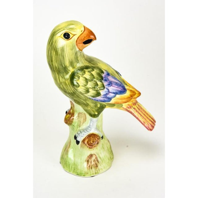 1970s Chelsea House Ceramic Green Parrots Italy - a Pair For Sale - Image 4 of 8