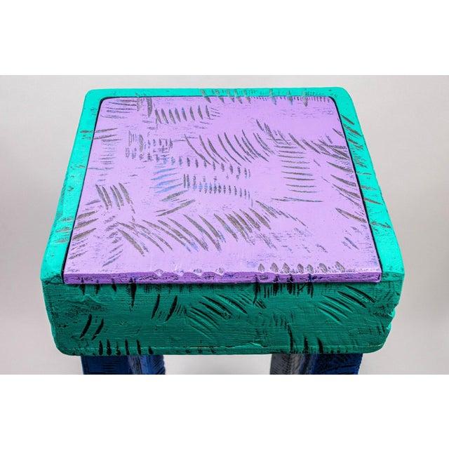 Postmodern Handmade Table by Wayne Norton 1991 For Sale - Image 4 of 6