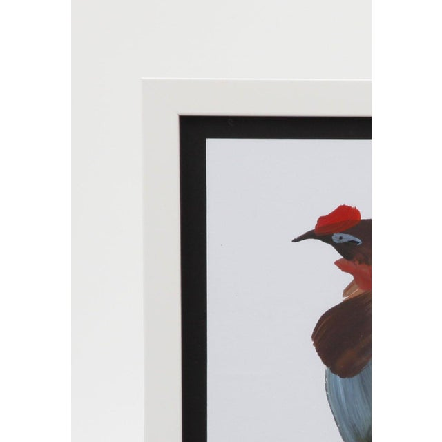 Framed Figurative Rooster Painting - Image 4 of 5