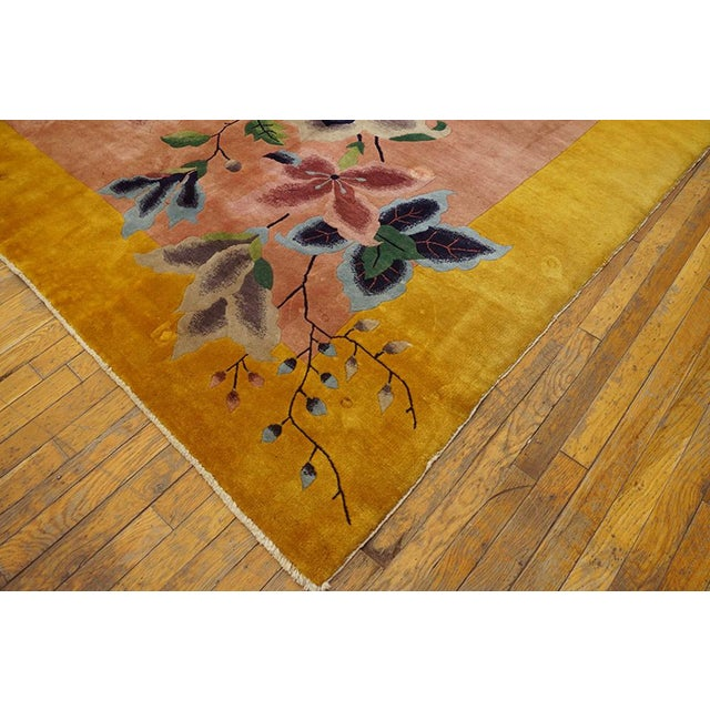 "Asian 1920s Chinese Art Deco Rug - 8'9""x11'6"" For Sale - Image 3 of 7"