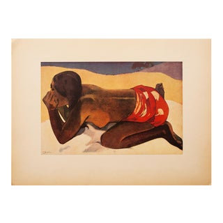 "1940s Paul Gauguin, Original Swiss Lithograph ""Otahi"" For Sale"