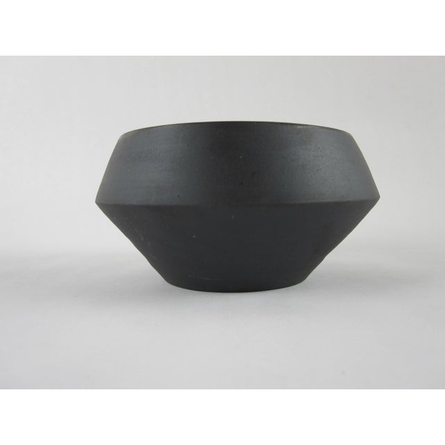 Boho Chic Rare Earth Bisque Black Signed Studio Pottery Bowl For Sale - Image 3 of 7