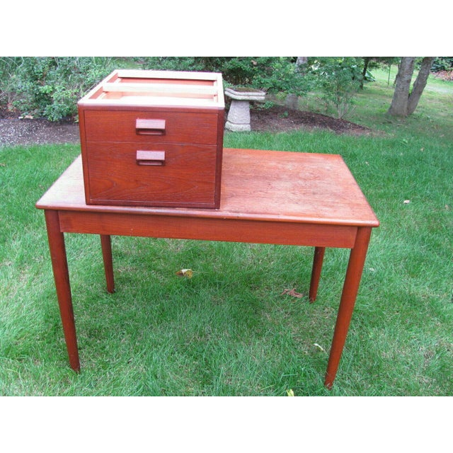 Soborg Mid Century Danish Modern Børge Mogensen Teak Desk For Sale In Richmond - Image 6 of 8