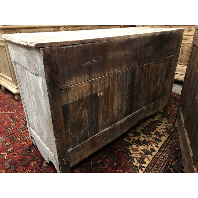 Antique White Early 19th Century French Washed Buffet For Sale - Image 8 of 9