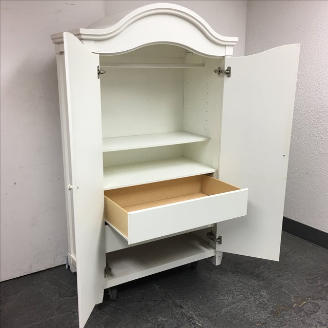 White Cottage Style Armoire - Image 5 of 8