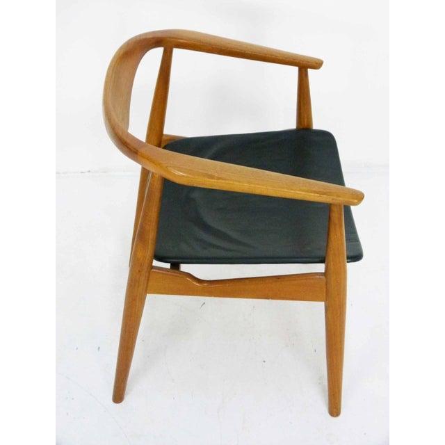 Danish Modern Teak Barrel Arm Chair - Image 5 of 10