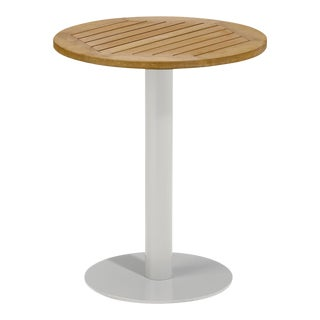 """24"""" Round Outdoor Bistro Table, Natural For Sale"""