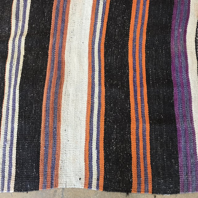 Striped Flat Weave Rug - 4′6″ × 8′6″ - Image 3 of 5