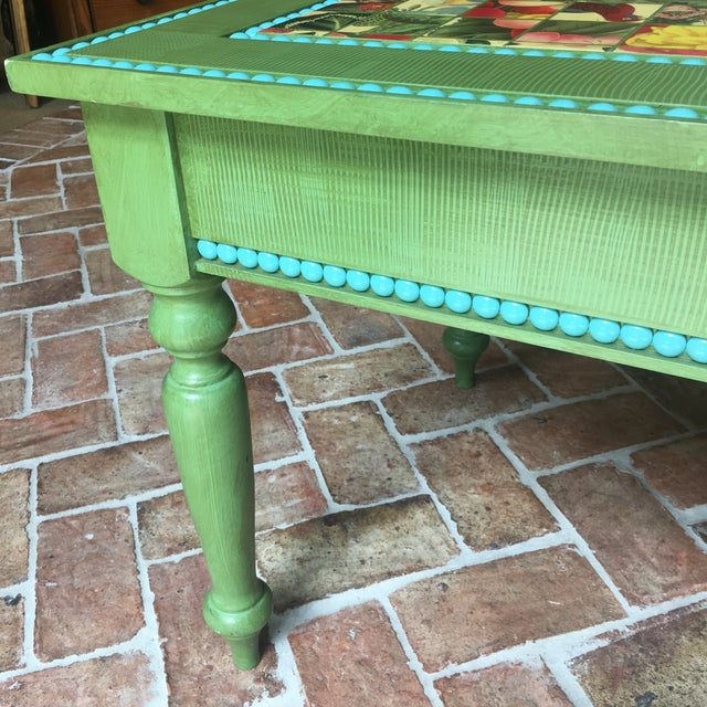 Hand Made Strie Artisan Cocktail Table - Image 5 of 6