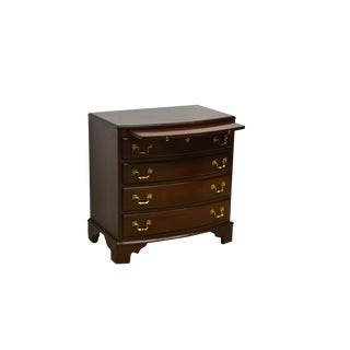 Chippendale Lexington Heirloom Solid Mahogany Bachelors Chest For Sale