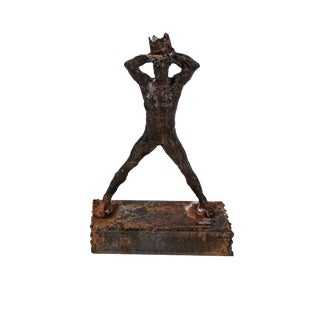 Figurative Metal Sculpture Reminiscent of Basquiat For Sale