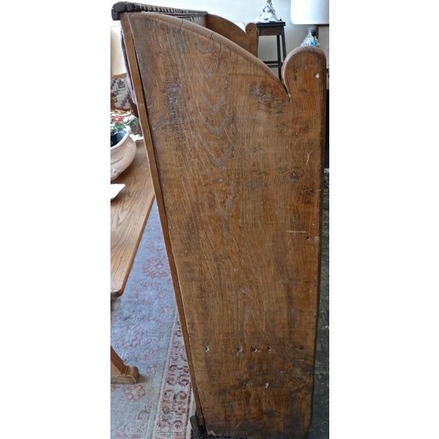 Brown 19th Century English Stained Pine Church Pew For Sale - Image 8 of 12