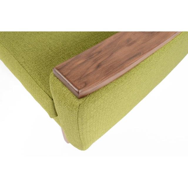 """Mid-Century Style """"Piedmont"""" Sofa in Avocado - Image 6 of 10"""