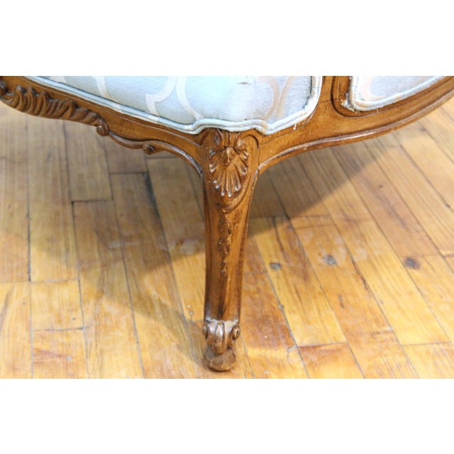 French Louis XV Provincial Style Bergere Chairs For Sale - Image 9 of 11