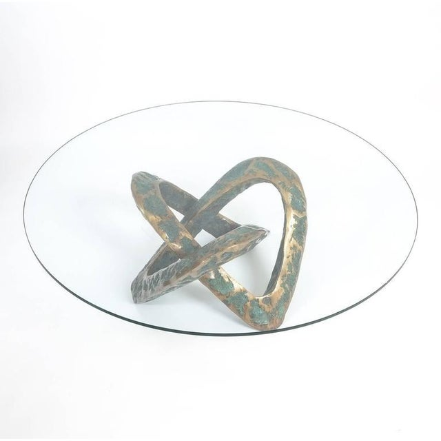 1950s Sculptural Brutalist Mobius Bronze Table, circa 1955 For Sale - Image 5 of 8