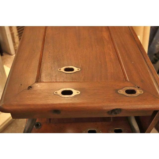 Metal 1920's Vintage Gestetner Duplicator Machine Wooden Cabinet For Sale - Image 7 of 9