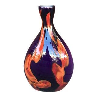 Vintage Murano Glass Vase For Sale