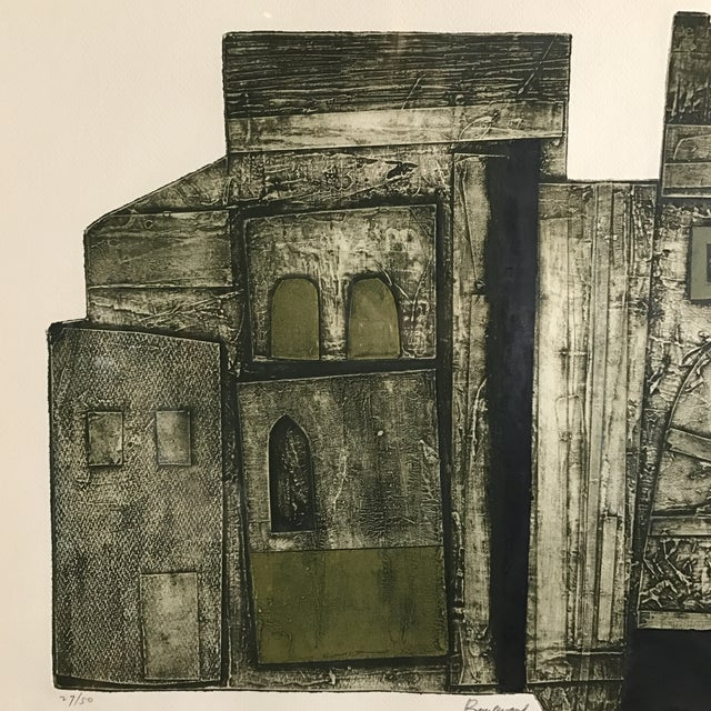 John Ross Architectural Collagraph - Image 5 of 10
