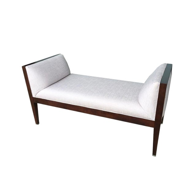Modern Baker Furniture Bench by Milling Road For Sale