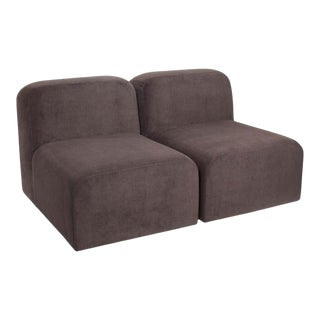 Yam Sofa by Sun at Six, Minimalist Sofa in Charcoal For Sale