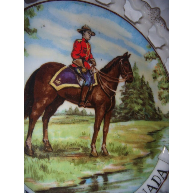Royal Canada Hand-Painted Mounties Plates - A Pair - Image 5 of 8
