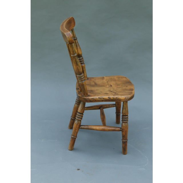 Antique English Elm Child's Chair - Image 5 of 8