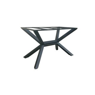 Industrial Counter Height Kitchen Island Trestle Table Base For Sale