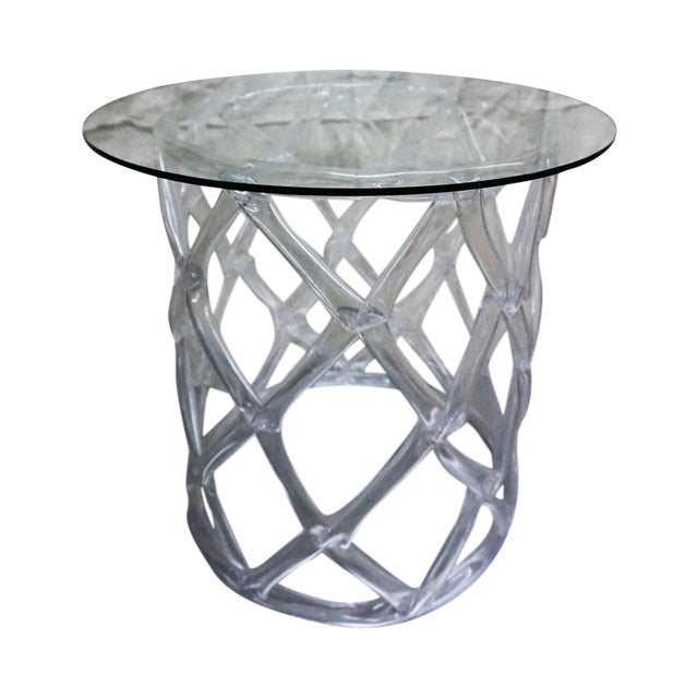 Tony Duquette Style Clear Lucite Ribbon Table - Image 1 of 5