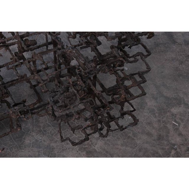 Bronze Brutalist Coffee Table by Daniel Gluck - Image 10 of 10