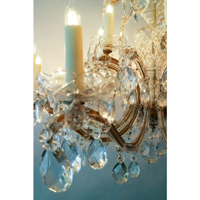 1900 - 1909 Circa 1900 Austrian Maria Theresa 18 Lite Chandelier For Sale - Image 5 of 6
