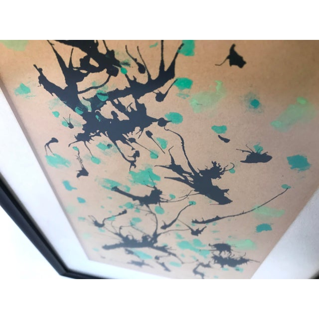 Paper Mid-Century Modern Splatter Painting on Paper For Sale - Image 7 of 10