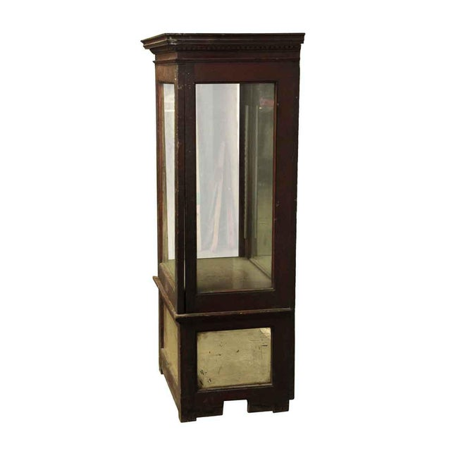 Wooden Cabinet With Mirrored Bottom For Sale - Image 6 of 8