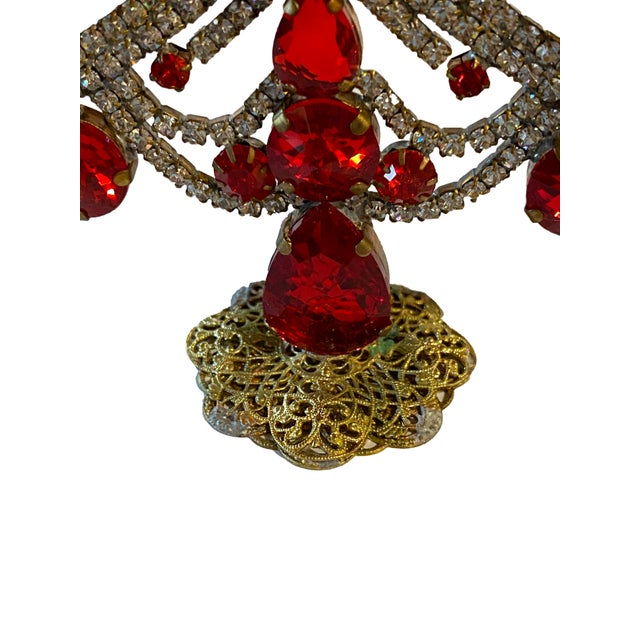 Early 20th Century Czech Rhinestone Christmas Tree For Sale - Image 5 of 7