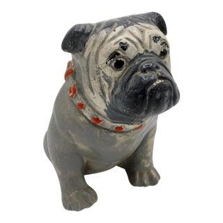 1930s Chalkware Carnival Prize Bulldog Statue For Sale