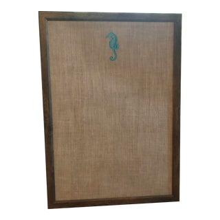 Pair Custom Barn Wood Embroidered Bulletin Board For Sale