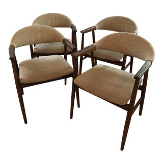 Mid-Century Modern Hans Wegner Style Dining Chairs - Set of 4