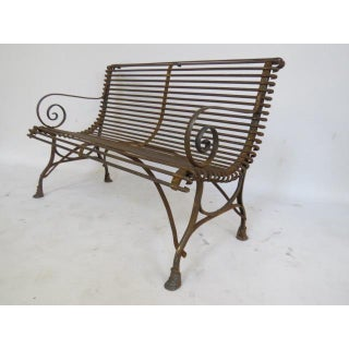 1920's French Garden Bench Preview