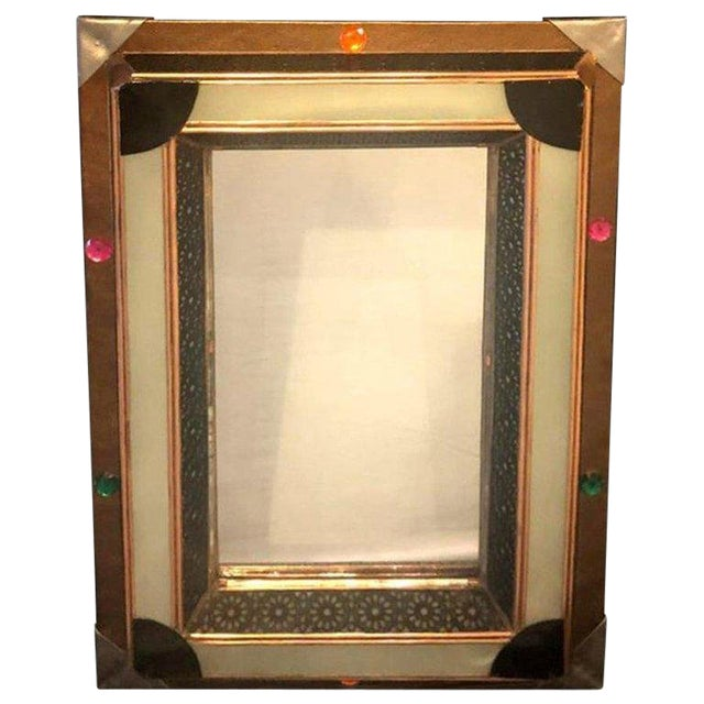Lighted Art Deco Moroccan Style Vanity Mirror or Wall Mirror For Sale