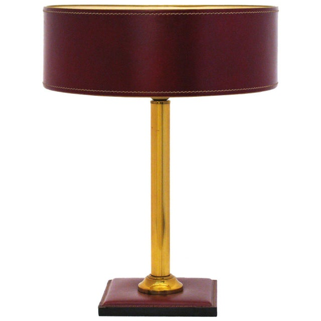 Jacques Adnet Leather-Clad Table Lamp - Image 1 of 8