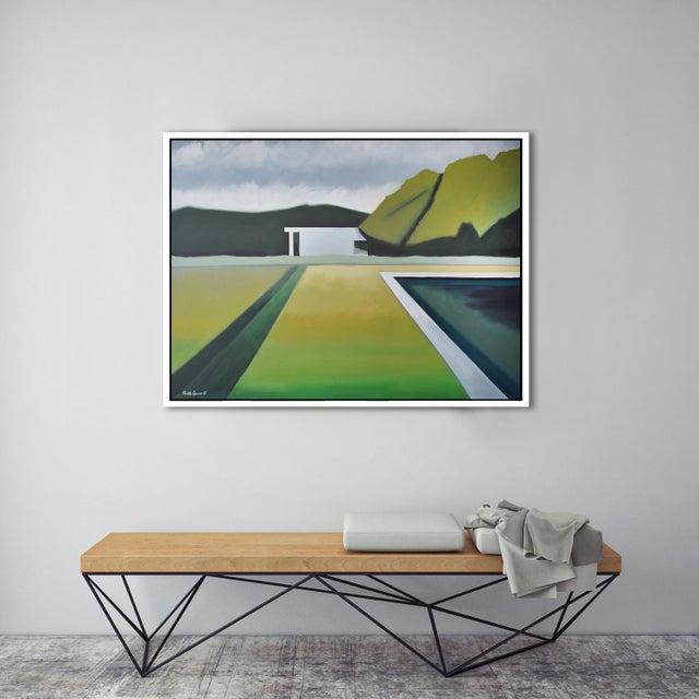 """FRAMED GICLÉE PRINTS: """"Abstract Landscape Poolside"""" - Framed Print * Frame style: floating frame made from wood. * Frame..."""